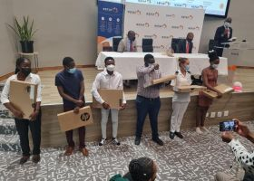 NSFAF hands over 10 500 laptops to students