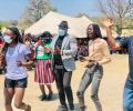 Hero's welcome for Mboma at home village